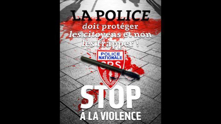 affichecgt-711x400 Γαλλία: Διχάζει αφίσα συνδικαλιστικής ένωσης για την αστυνομική βία