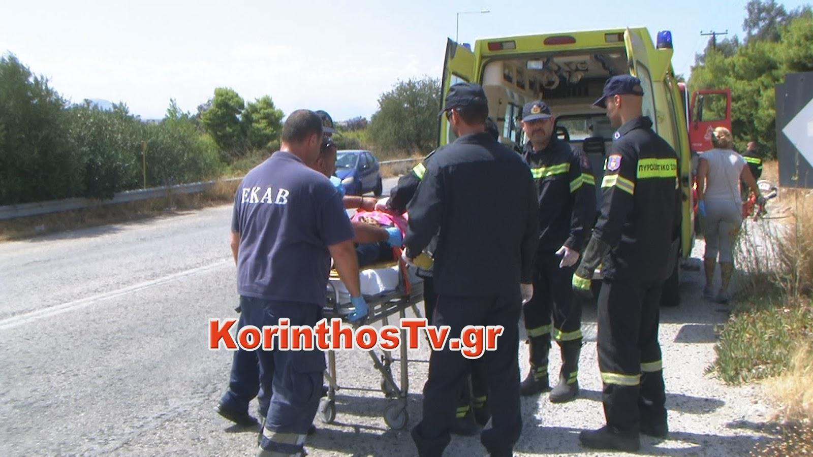 korinthos3_2 Γλίτωσαν από θαύμα καθώς το αυτοκίνητο τους έπεσε σε γκρεμό [εικόνες]