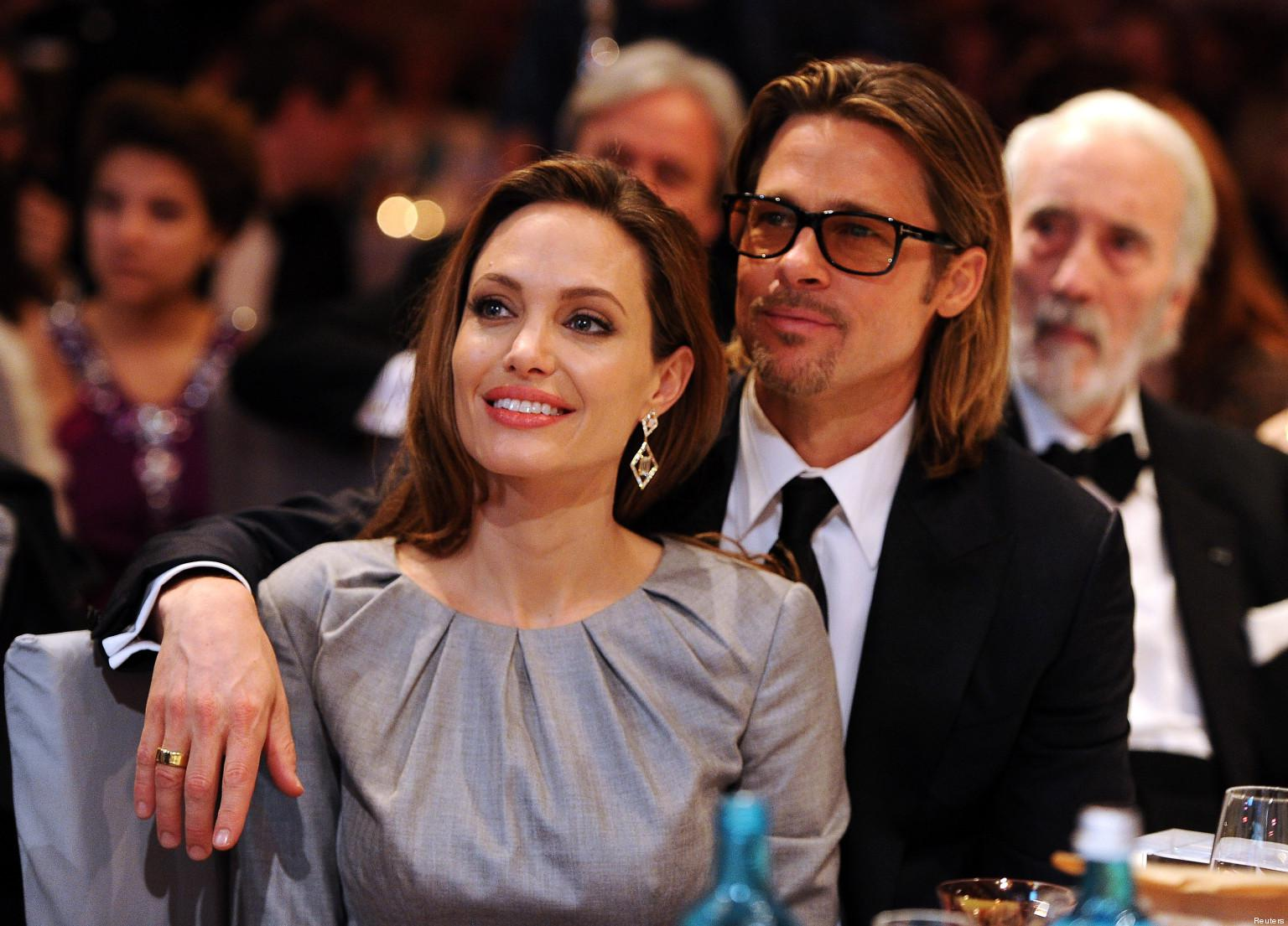 """Angelina Jolie and Brad Pitt attend the """"Cinema for Peace 2012"""" charity gala during the 62nd Berlinale film festival in Berlin"""