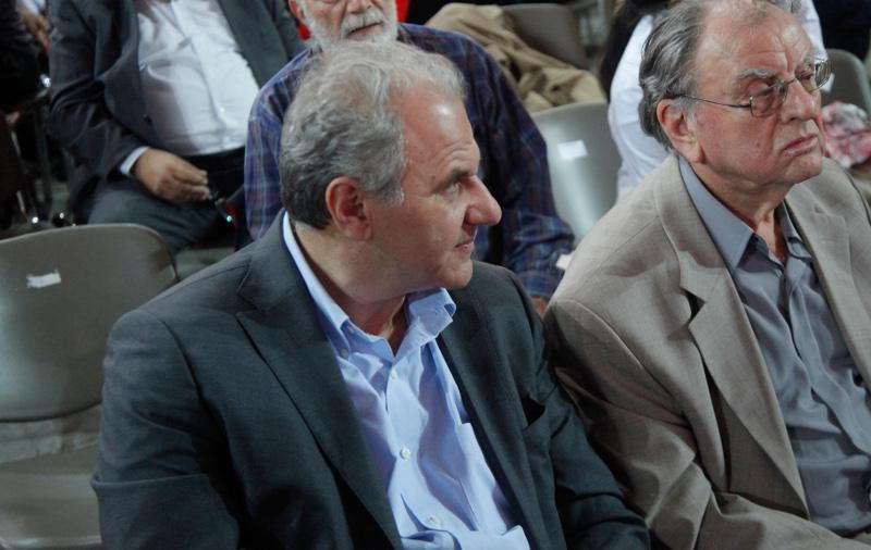 Ο εκδότης Ηλίας Λιβάνης με το πρώην στέλεχος του ΠΑΣΟΚ, Μενέλαο Γκίβαλο