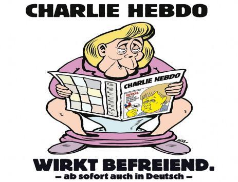 charlie2-1300 Στην τουαλέτα διαβάζει το «Charlie Hebdo» η Μέρκελ!