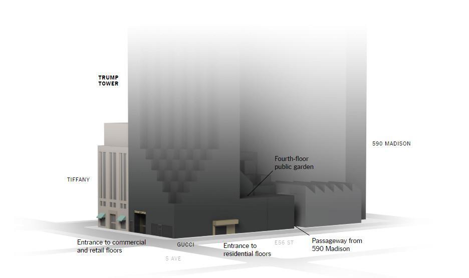 tramp-towrer-1-1300 «Βόρειος» Λευκός Οίκος: Αυτός είναι ο Trump Tower στο Μανχάταν