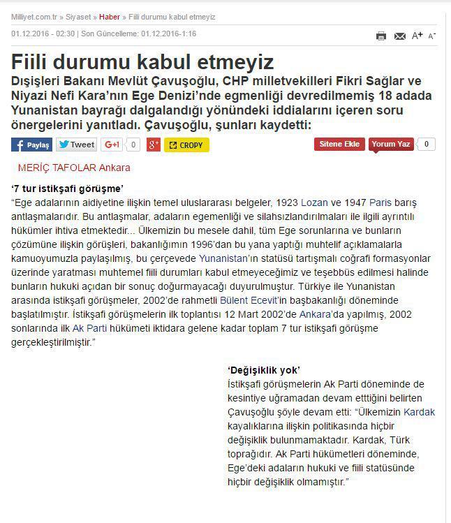 pohoto-milliet Θράσος Τσαβούσογλου: «Τα Ίμια είναι τουρκικό έδαφος!»