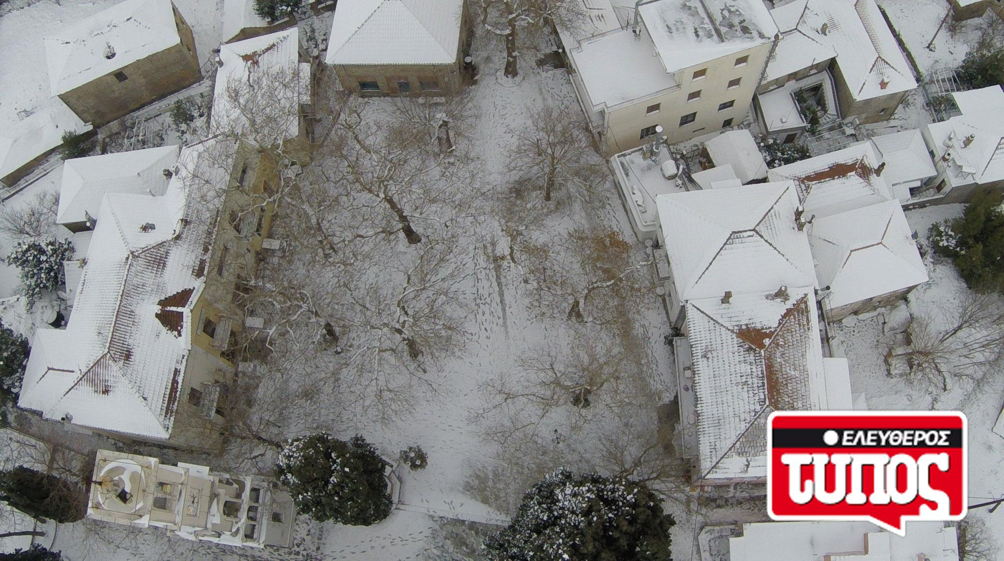 laukos-piliou-xionismenos-aerofotografies-1300-12 Εντυπωσιακές αεροφωτογραφίες από το χιονισμένο Λαύκο Πηλίου [εικόνες]