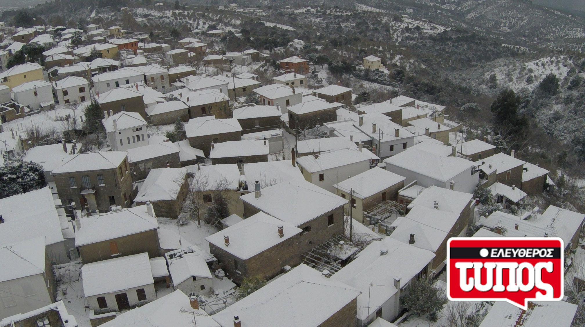 laukos-piliou-xionismenos-aerofotografies-1300-3 Εντυπωσιακές αεροφωτογραφίες από το χιονισμένο Λαύκο Πηλίου [εικόνες]