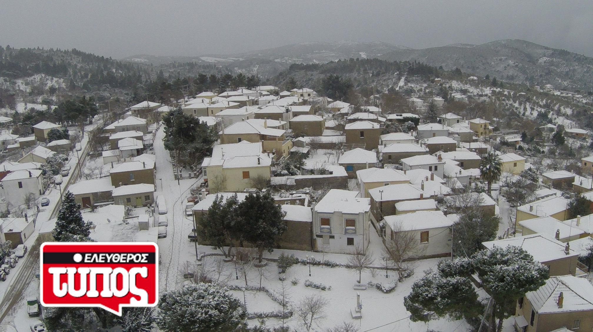 laukos-piliou-xionismenos-aerofotografies-1300-4 Εντυπωσιακές αεροφωτογραφίες από το χιονισμένο Λαύκο Πηλίου [εικόνες]