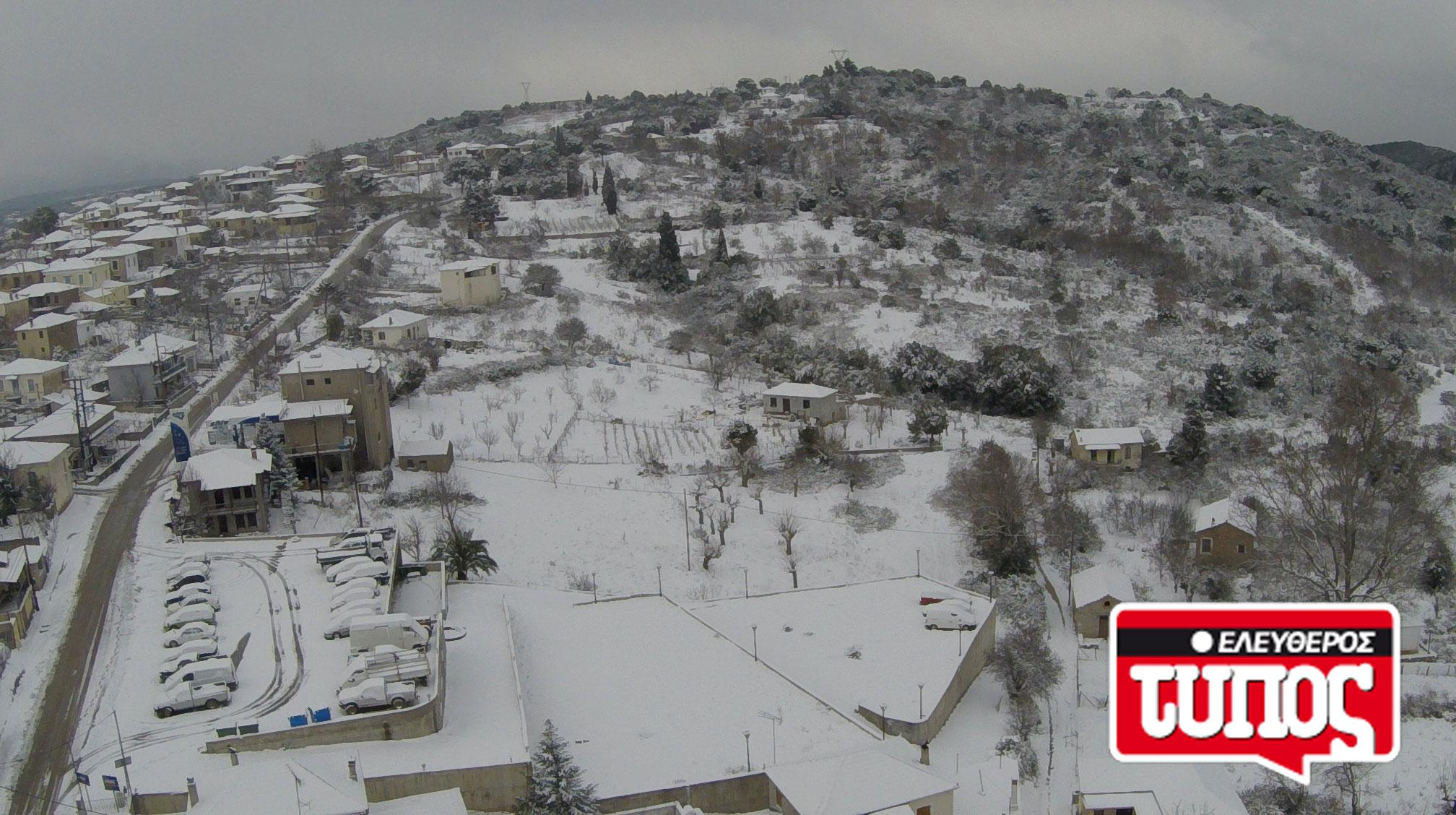 laukos-piliou-xionismenos-aerofotografies-1300-5 Εντυπωσιακές αεροφωτογραφίες από το χιονισμένο Λαύκο Πηλίου [εικόνες]