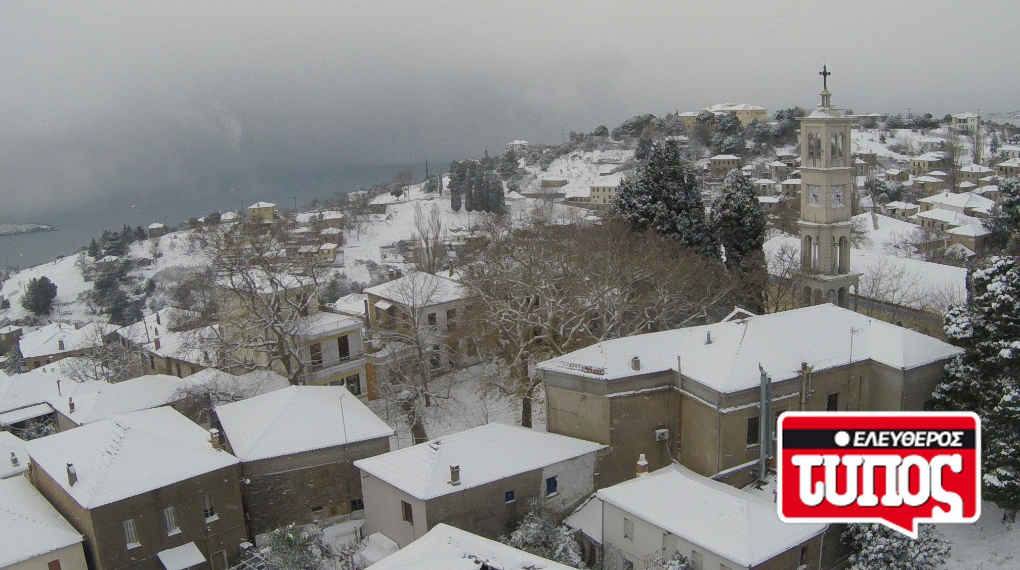 laukos-piliou-xionismenos-aerofotografies-1300-6 Εντυπωσιακές αεροφωτογραφίες από το χιονισμένο Λαύκο Πηλίου [εικόνες]