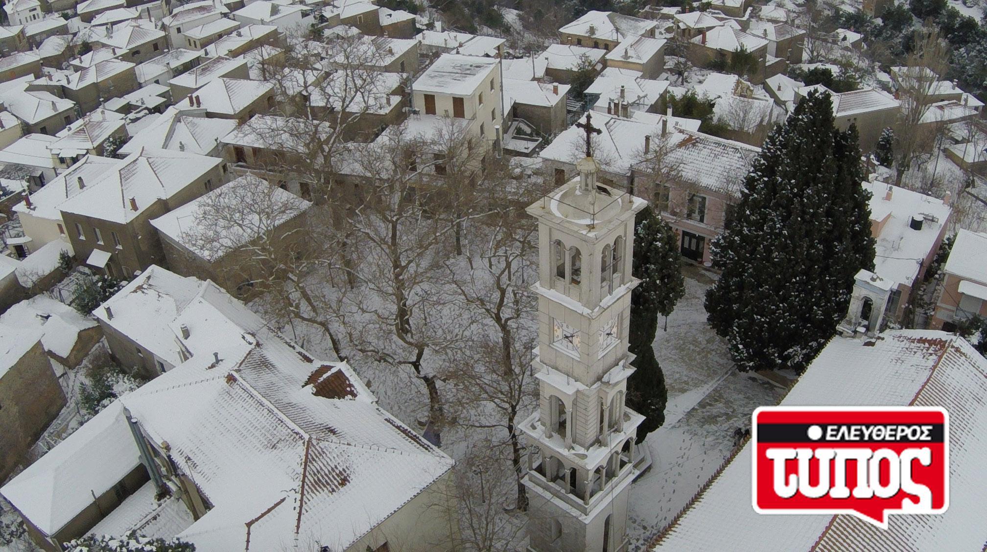 laukos-piliou-xionismenos-aerofotografies-1300-9 Εντυπωσιακές αεροφωτογραφίες από το χιονισμένο Λαύκο Πηλίου [εικόνες]