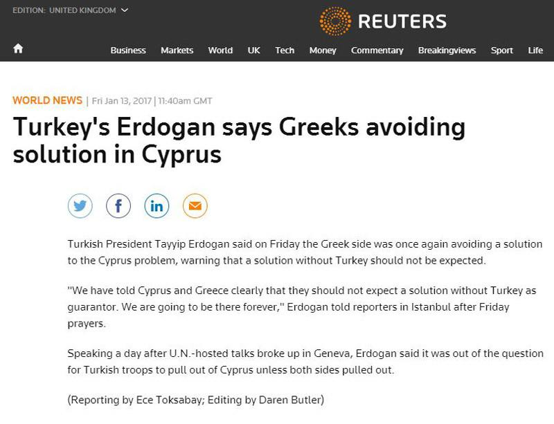 reuters-dimosieuma-1300 Ερντογάν: Ο στρατός μας δεν φεύγει από Κύπρο, θα είμαστε εκεί για πάντα!