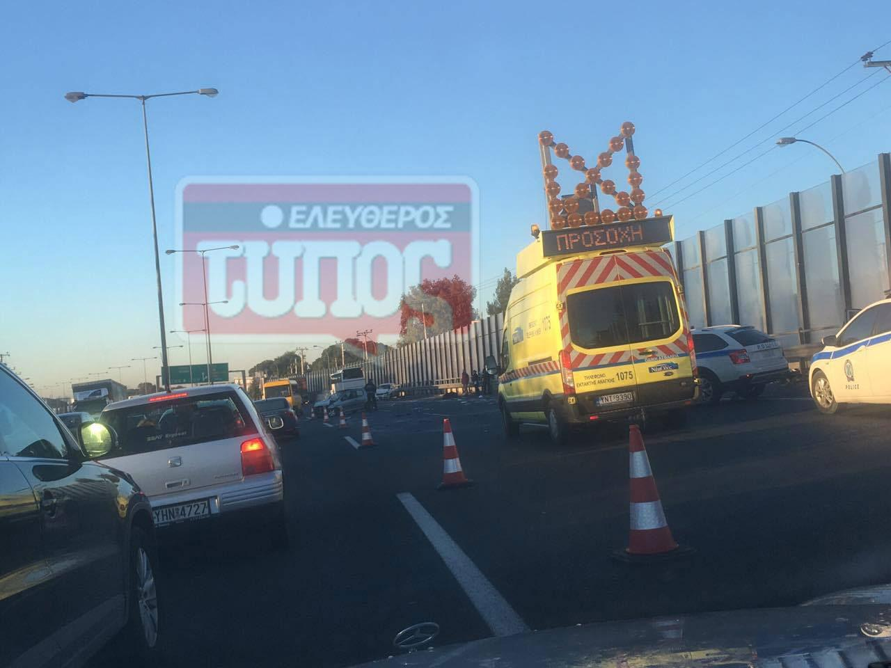 t5roxaio-ethinik-odos-traumaties-1300-3 Ατύχημα με τραυματία στην εθνική οδό: Μποτιλιάρισμα με ουρές χιλιομέτρων [εικόνες]