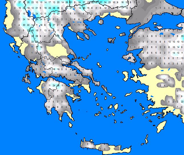 xionia-ellada-2 Από πότε και από πού ξεκινάει το πολικό ψύχος και ο χιονιάς στην χώρα