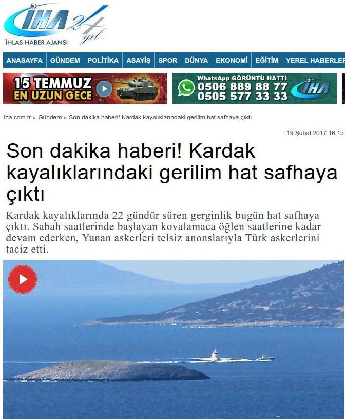 Νέα πρόκληση στα Ιμια: Οι Τούρκοι... ανακάλυψαν τρίωρη εμπλοκή ελληνοτουρκικών πολεμικών πλοίων