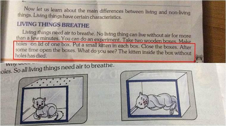 india-gataki-sxoleio Σχολικό εγχειρίδιο στην Ινδία συμβουλεύει τους μαθητές πως να… προκαλούν ασφυξία σε γατάκι