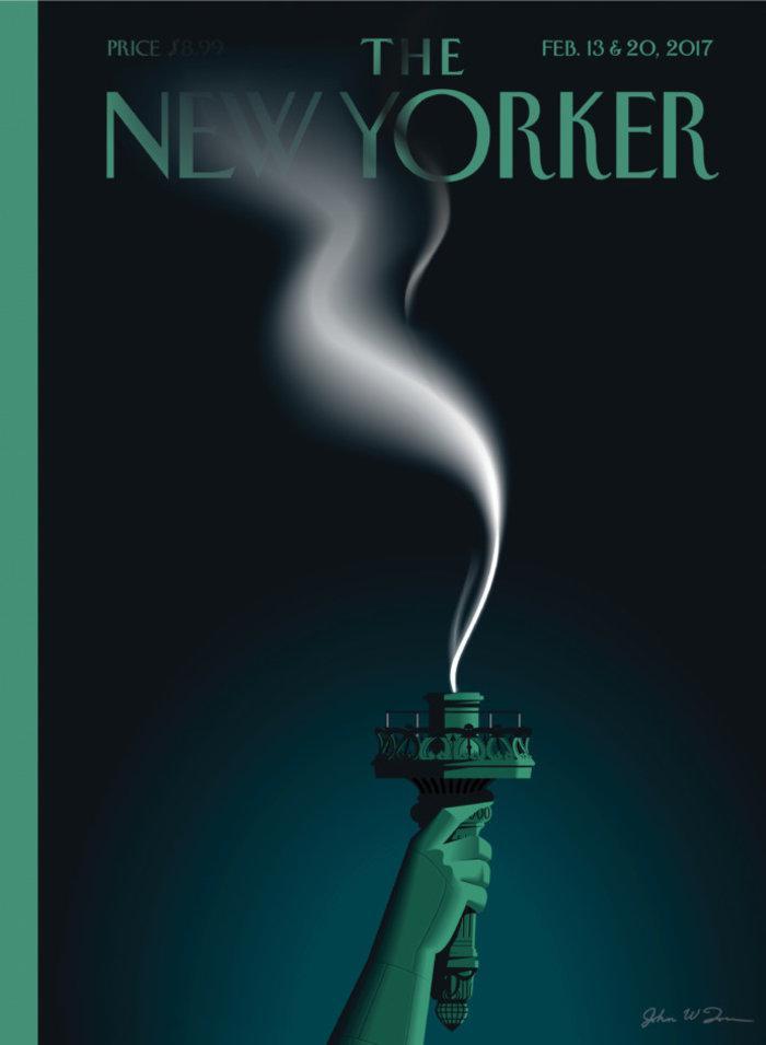 new-yorker-trump Ο Τραμπ... σβήνει τη φλόγααπό το Άγαλμα της Ελευθερίας στο νέο εξώφυλλο του New Yorker