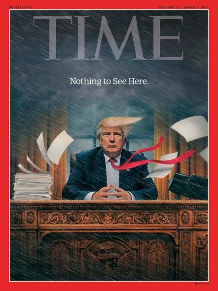 time-trump Η… καταιγίδα Τραμπ εξώφυλλο στο περιοδικό Time