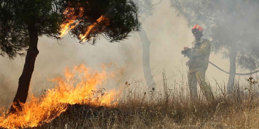 Μεγάλη φωτιά σε δύσβατη περιοχή των Χανίων
