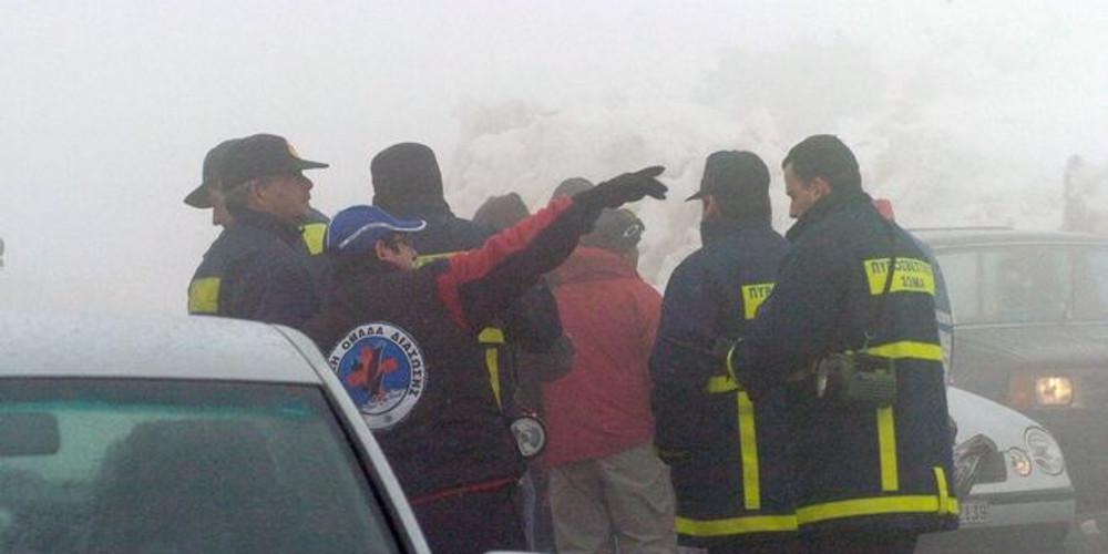 Τέσσερις εγκλωβισμένοι από τον πάγο στην Φωκίδα - Σε εξέλιξη επιχείρηση της ΕΜΑΚ