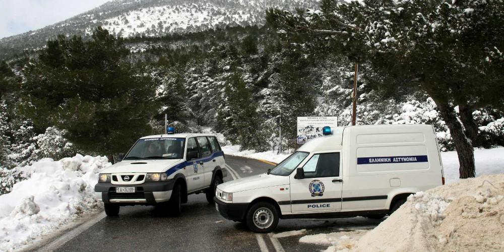 Ποιοι δρόμοι της Αττικής είναι κλειστοί λόγω χιονόπτωσης