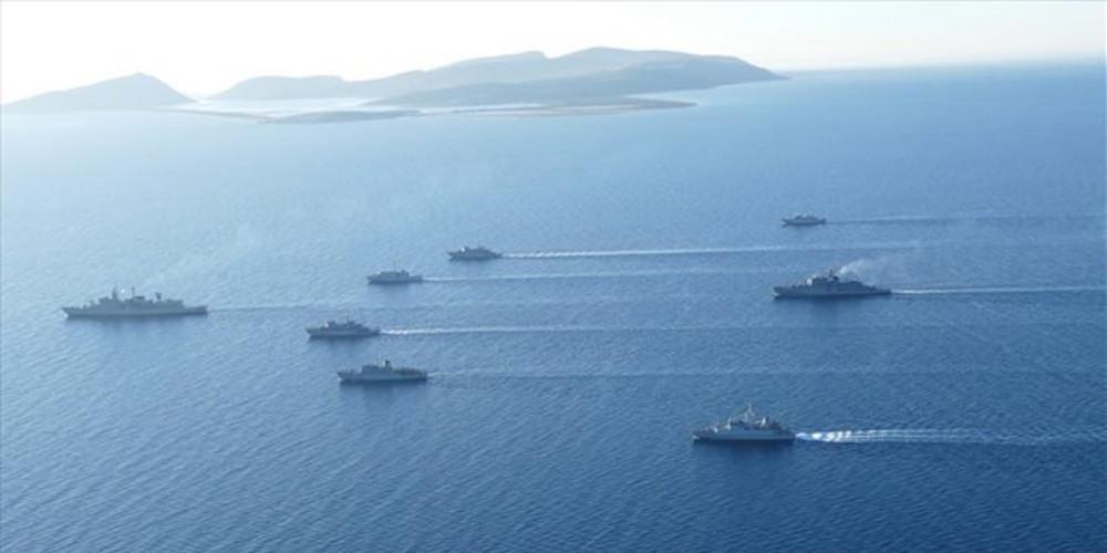 Εν μέσω απειλών για γεωτρήσεις στη κυπριακή ΑΟΖ η Τουρκία ξεκίνησε τα «μεγαλύτερα γυμνάσια» του Πολεμικού Ναυτικού της