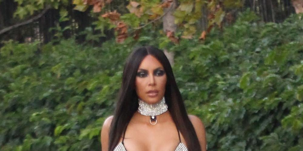 Μόνο η Κιμ Καρντάσιαν μπορεί να φορέσει ένα ημιδιάφανο πανί με τον ... εαυτό της και να γίνει θέμα