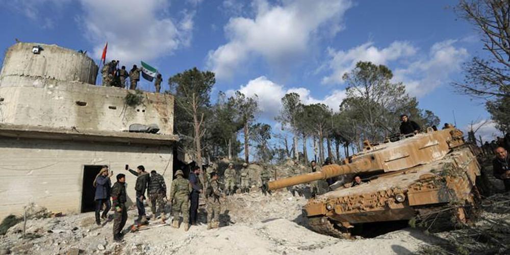 Οι τουρκικές δυνάμεις και οι σύμμαχοί τους εισέβαλαν στο Αφρίν