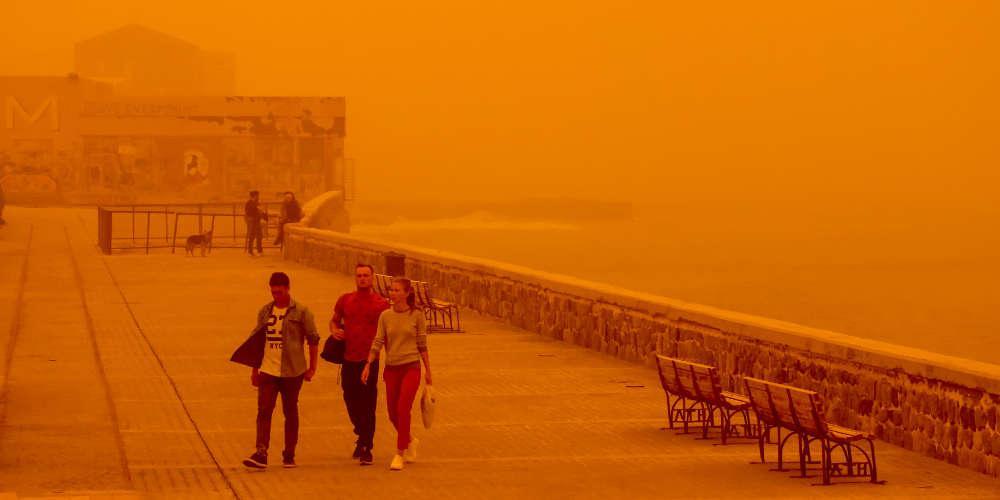 Πρόγνωση καιρού: Αφρικανική σκόνη θα μας «πνίξει» τη Μεγάλη Εβδομάδα