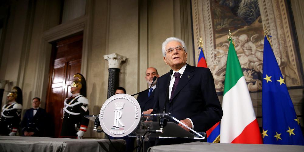 Δραματικό διάγγελμα του Ματαρέλα για την επόμενη μέρα στην Ιταλία