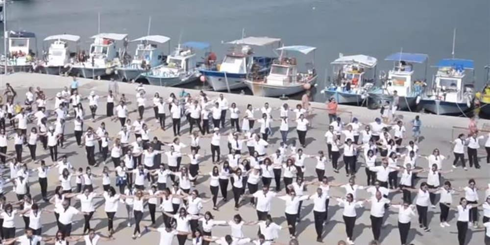Ρεκόρ Guinness: 1200 Κύπριοι χορεύουν χασάπικο στην Πάφο [βίντεο]