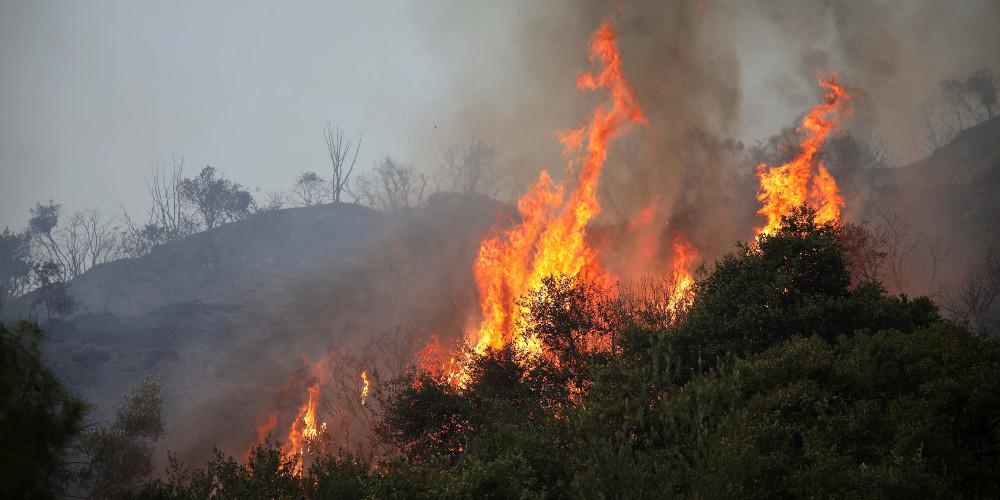 Πυρκαγιά ξέσπασε το μεσημέρι της Πέμπτης 3 Οκτωβρίου στη Ρόδο.