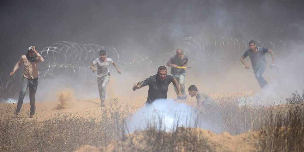 Δύο Παλαιστίνιοι νεκροί και 99 τραυματίες στη Γάζα