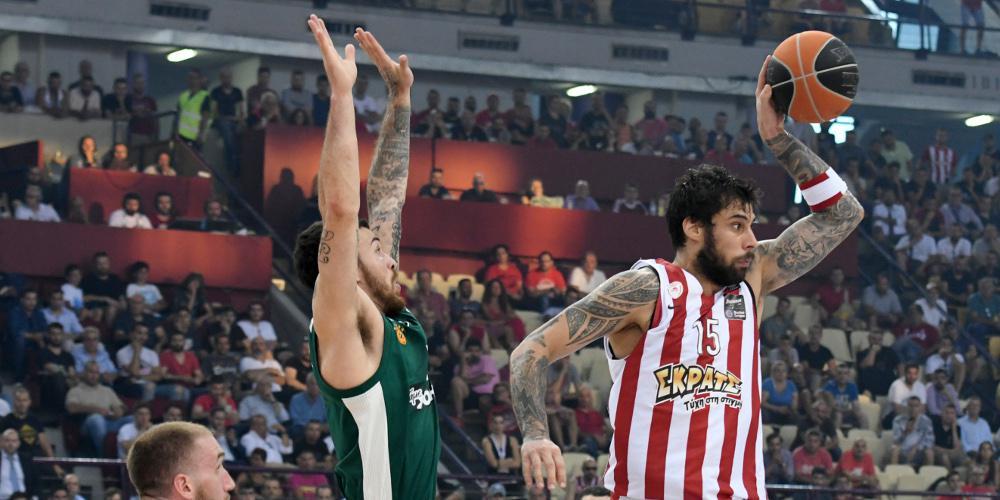 Στο ΟΑΚΑ ο τίτλος - Εύκολη νίκη του Ολυμπιακού κόντρα στον Παναθηναϊκό με 92-76