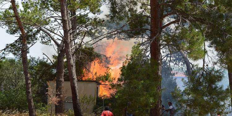 Υπό έλεγχο η μεγάλη φωτιά που ξέσπασε στην Πύλο - Ασφαλή τα μνημεία [εικόνες - βίντεο]