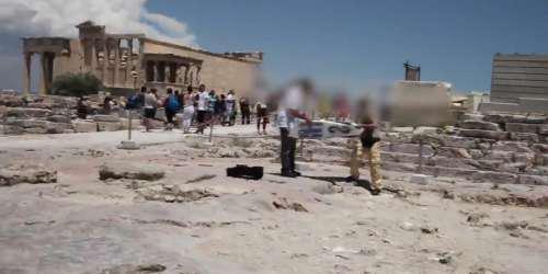 Βίντεο από το ντου του Ρουβίκωνα στην Ακρόπολη