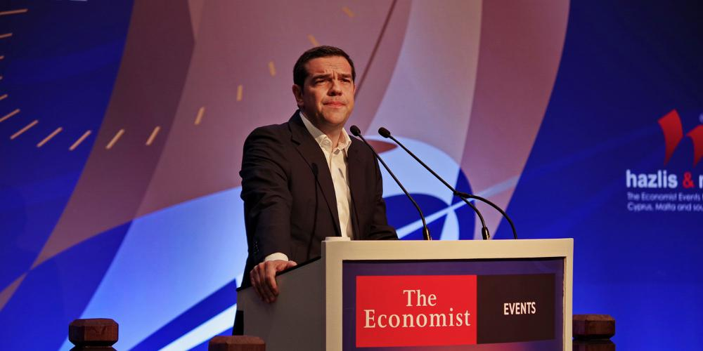 Τσίπρας στο συνέδριο του Economist: Ιστορικής σημασίας νίκη για την Ελλάδα η συμφωνία για το Σκοπιανό