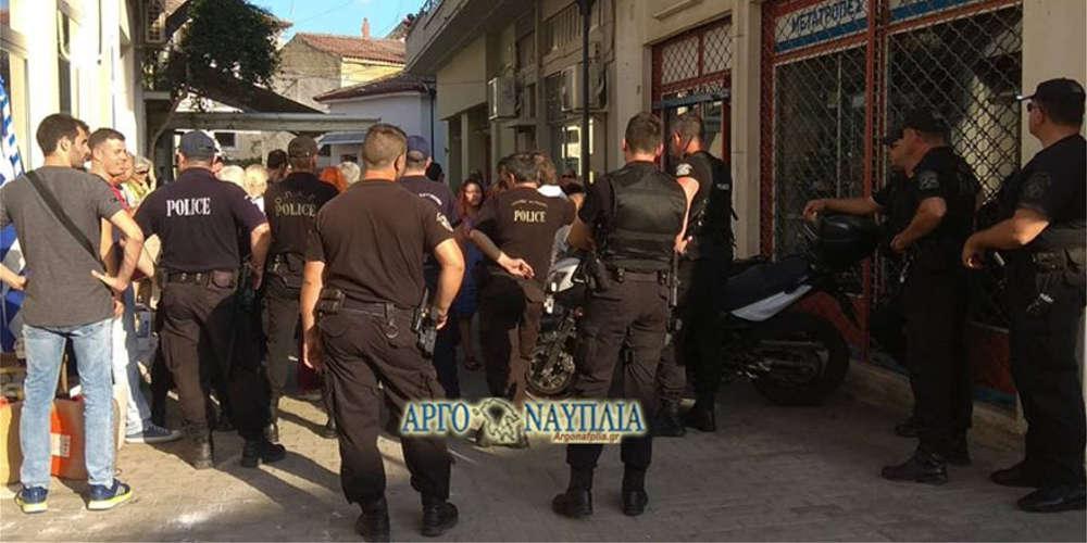 Με άγριες διαθέσεις περίμεναν οι πολίτες τον Πετρόπουλο στο Άργος
