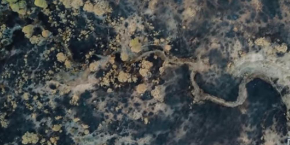 Θλίψη: Drone καταγράφει την τεράστια καταστροφή στα Γεράνεια Όρη από την πυρκαγιά