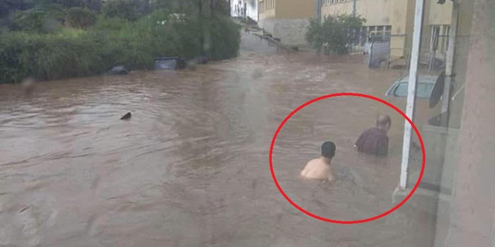 Βίντεο από το πλημμυρισμένο προαύλιο του νοσοκομείου Σωτηρία!