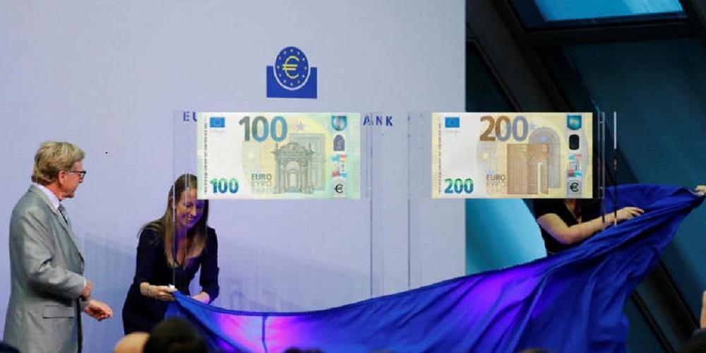 Ιδού τα νέα χαρτονομίσματα των 100 και 200 ευρώ! [βίντεο]