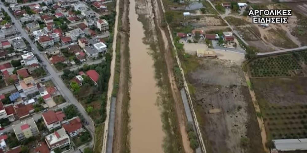 Εντυπωσιακό βίντεο από drone: Οι καταστροφές του Ζορμπά στην Αργολίδα