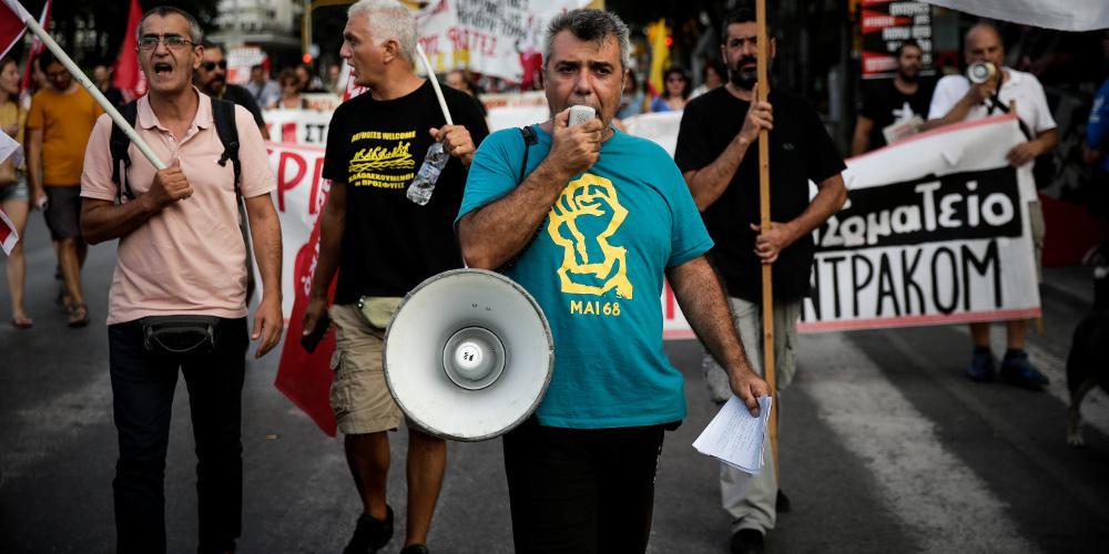 Συγκέντρωση διαμαρτυρίας για του παιδικούς σταθμούς στο κέντρο της Αθήνας
