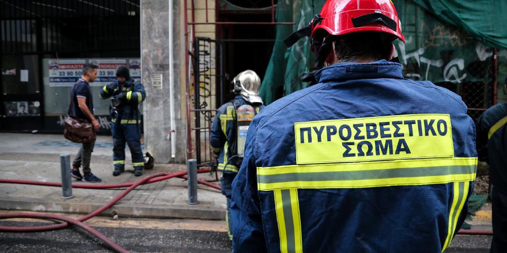 Φωτιά σε διαμέρισμα στο κέντρο της Αθήνας