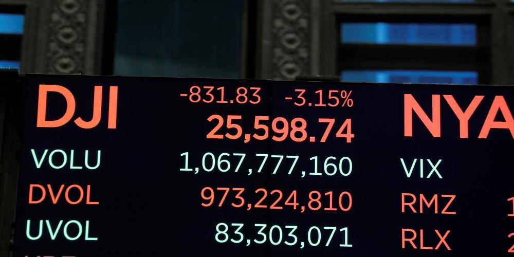 Μίνι κραχ στην Wall Street - Πήρε μαζί και τα Ευρωπαϊκά χρηματιστήρια