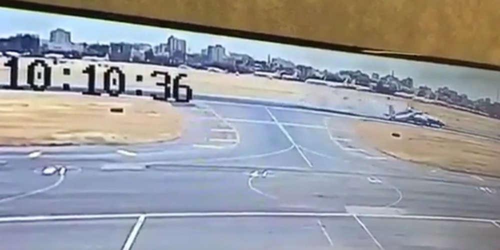 Σοκαριστικό βίντεο από την σύγκρουση δύο αεροπλάνων στον αεροδιάδρομο [βίντεο]