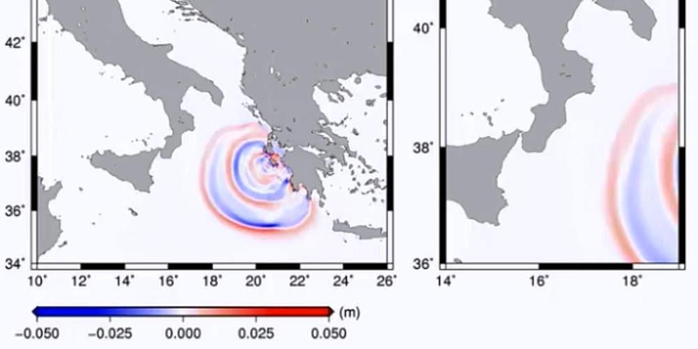 Καρέ-καρέ ολόκληρη η πορεία του τσουνάμι από τη Ζάκυνθο στην Ιταλία μετά το σεισμό [βίντεο]