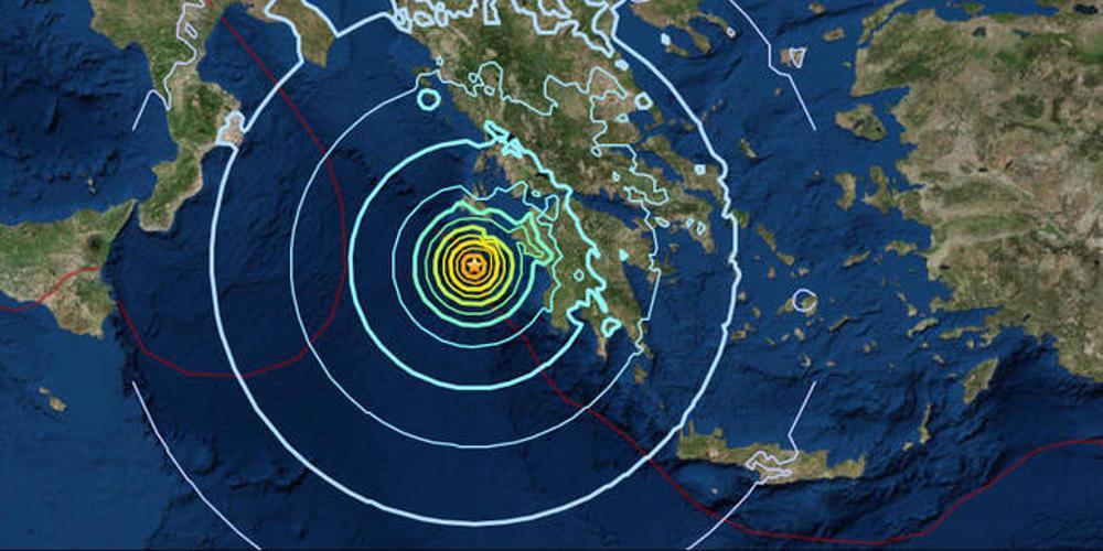 Νέος σεισμός 4,3 Ρίχτερ νοτιοδυτικά της Ζακύνθου