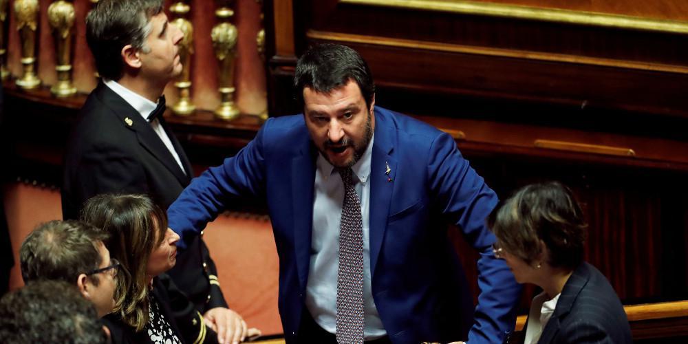 Υπέρ της παραπομπής Σαλβίνι σε δίκη ψήφισε η ιταλική Γερουσία