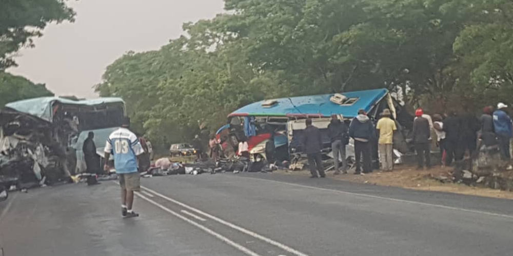 Τουλάχιστον 47 νεκροί από σύγκρουση δύο λεωφορείων στην Ζιμπάμπουε