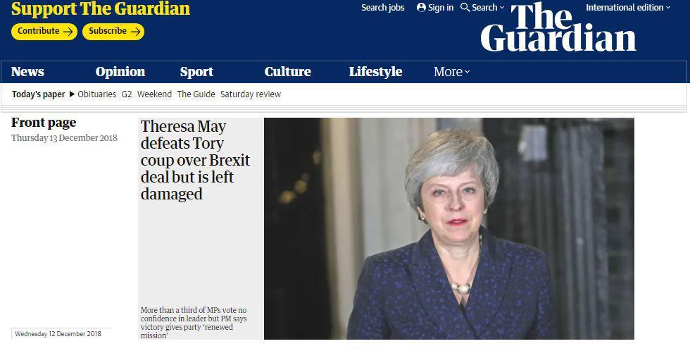 «Ηγέτης-Ζόμπι» η Μει – Πώς σχολιάζει ο διεθνής τύπος τις εξελίξεις στη Βρετανία