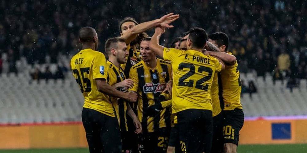 Χόρευε στη βροχή η ΑΕΚ - 3-0 τον Αστέρα Τρίπολης στο ΟΑΚΑ